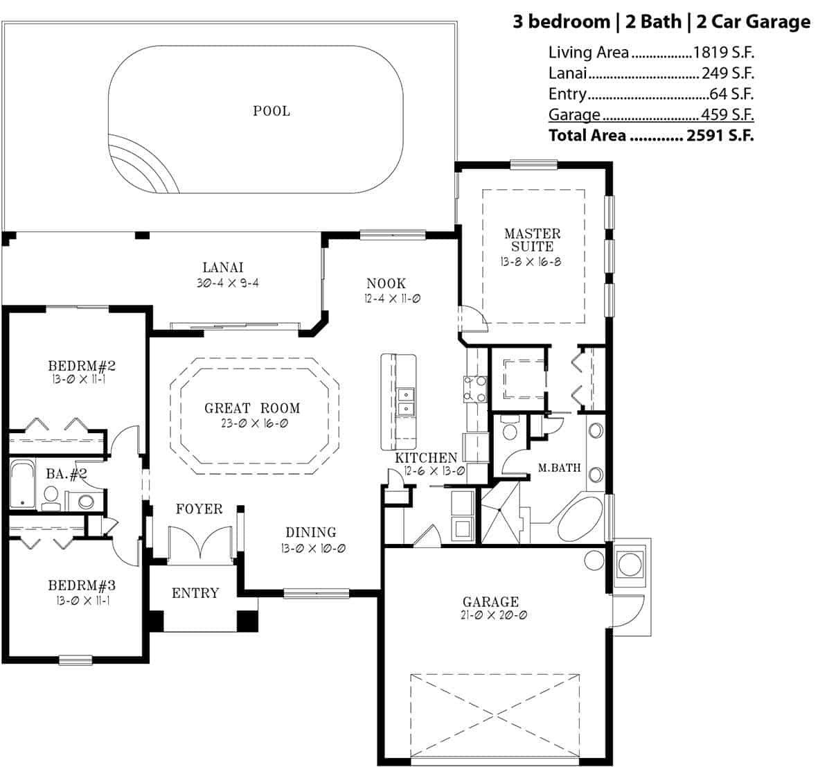 3 bedroom 2 bath 2 car garage floor plans 28 images for Car floor plan